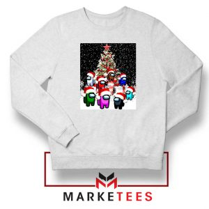 Among Us Christmas White Sweatshirt
