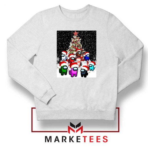 Among Us Christmas White Sweatshirt