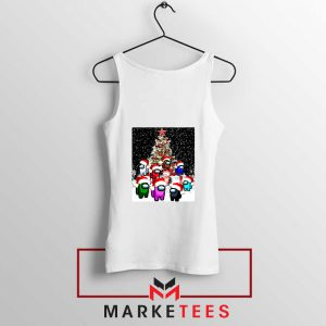 Among Us Christmas White Tank Top