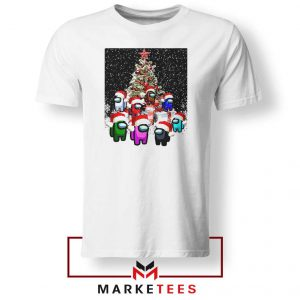 Among Us Christmas White Tshirt