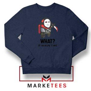 Among Us Jason Voorhees Navy Blue Sweatshirt
