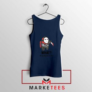 Among Us Jason Voorhees Navy Blue Tank Top