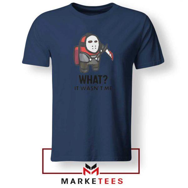 Among Us Jason Voorhees Navy Blue Tshirt