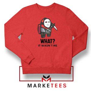 Among Us Jason Voorhees Red Sweatshirt