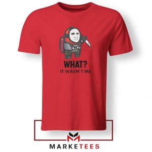 Among Us Jason Voorhees Red Tshirt