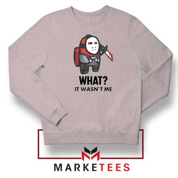 Among Us Jason Voorhees Sport Grey Sweatshirt