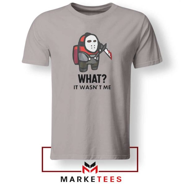 Among Us Jason Voorhees Sport Grey Tshirt
