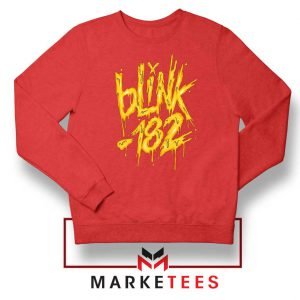 Blink 182 Rock Music Red Sweatshirt