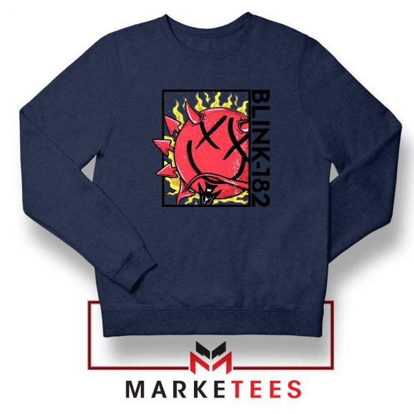 Blink 182 Rock Smile Navy Blue Sweatshirt