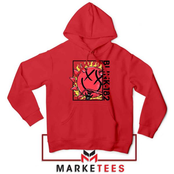 Blink 182 Rock Smile Red Hoodie