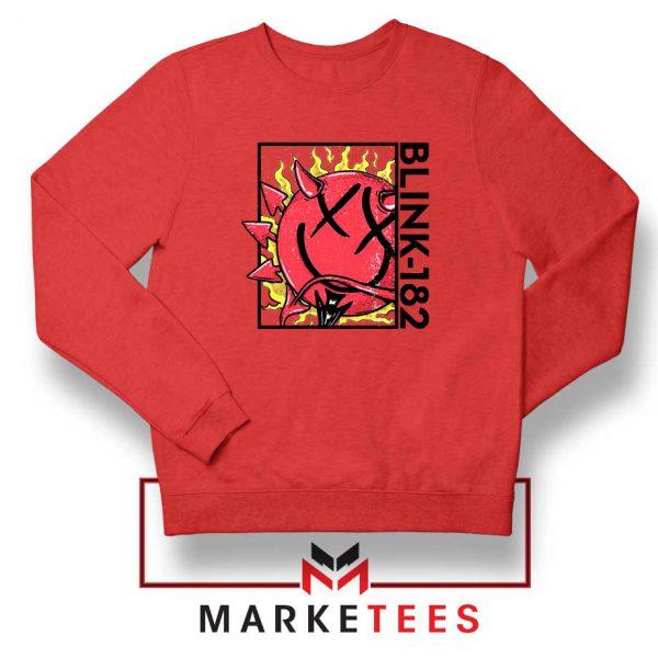 Blink 182 Rock Smile Red Sweatshirt