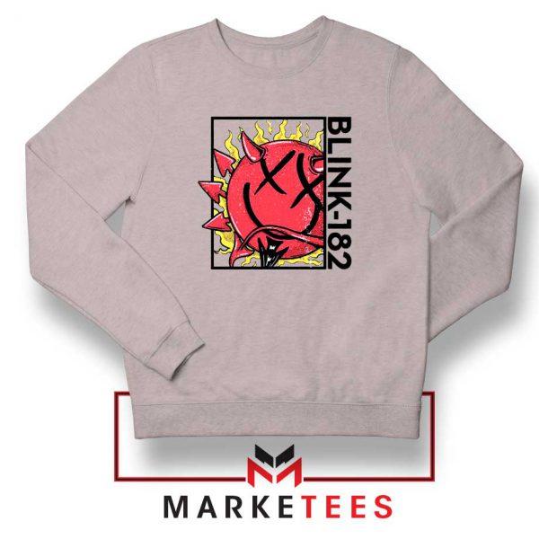 Blink 182 Rock Smile Sport Grey Sweatshirt