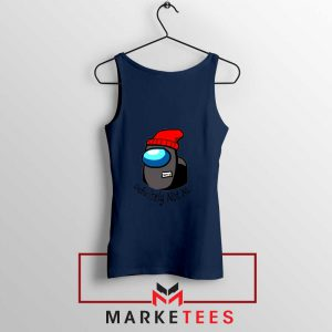 Definitely Not Me Navy Blue Tank Top