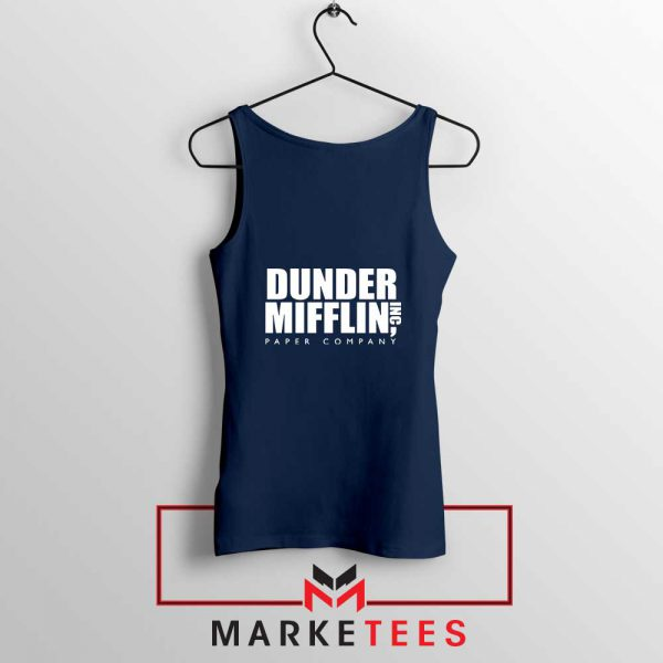 Dunder Mifflin Navy Blue Tank Top