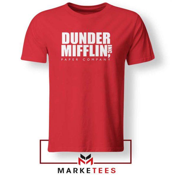 Dunder Mifflin Red Tshirt
