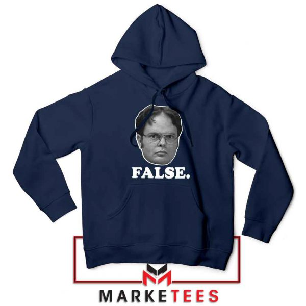 Dwight Schrute False Navy Blue Hoodie