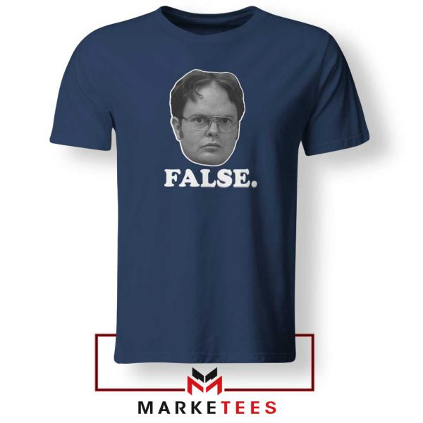Dwight Schrute False Navy Blue Tshirt