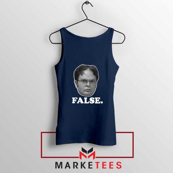 Dwight Schrute False Navy BlueTank Top