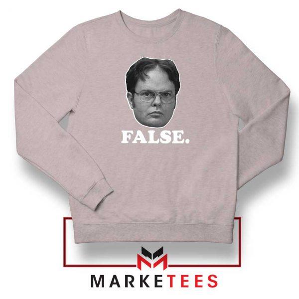 Dwight Schrute False Sport Grey Sweatshrit
