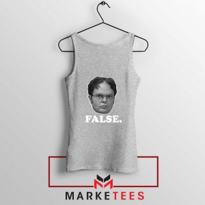 Dwight Schrute False Sport Grey Tank Top