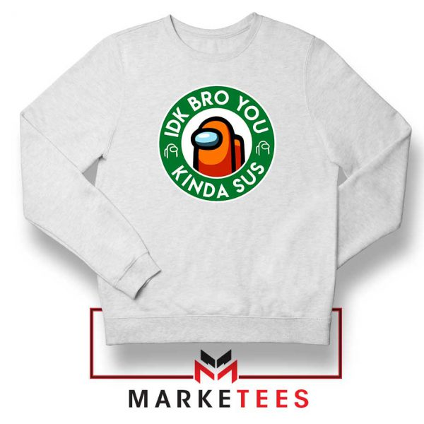 Impostor Coffee White Sweatshirt