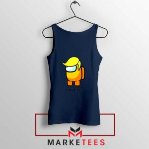 Kinda Sus Donald Trump Navy Blue Tank Top
