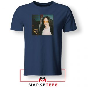 Lana Del Rey Singer Navy Blue Tshirt