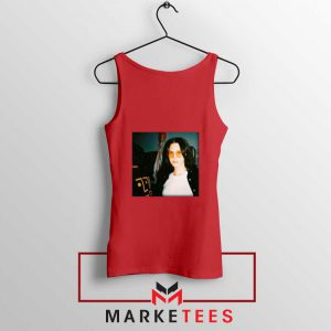 Lana Del Rey Singer Red Tank Top