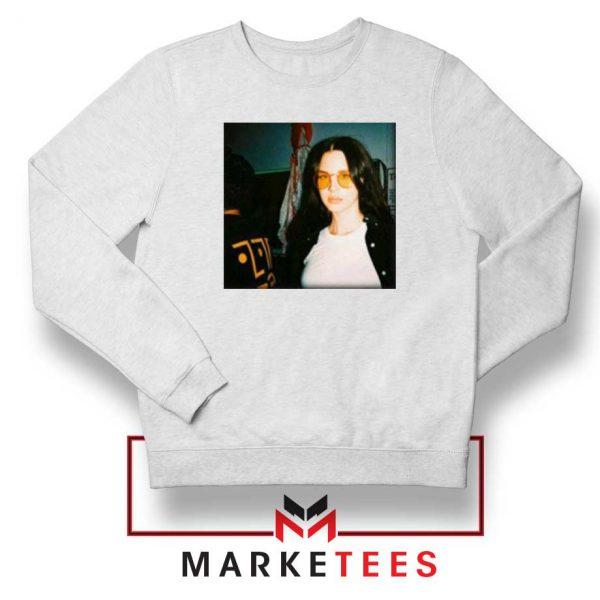 Lana Del Rey Singer White Sweatshirt