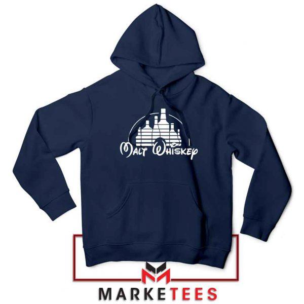 Malt Whiskey Navy Blue Hoodie