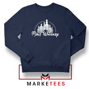Malt Whiskey Navy Blue Sweatshirt