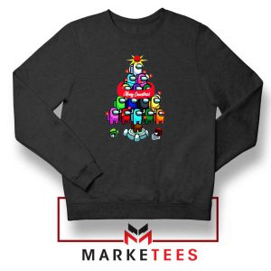 Merry Christmas Game Black Sweatshirt
