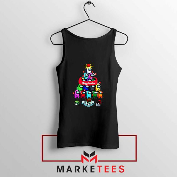 Merry Christmas Game Black Tank Top