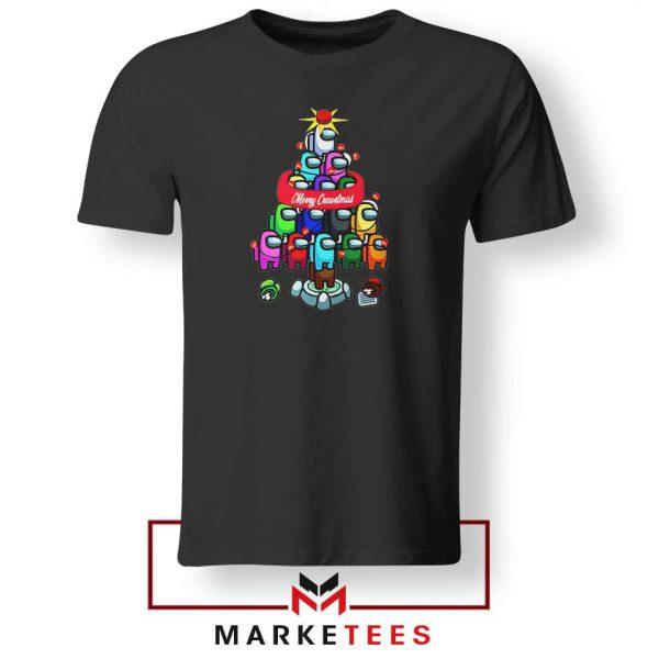 Merry Christmas Game Black Tshirt