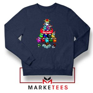 Merry Christmas Game Navy Blue Sweatshirt