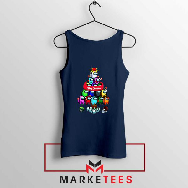 Merry Christmas Game Navy Blue Tank Top