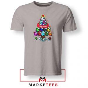 Merry Christmas Game Sport Grey Tshirt