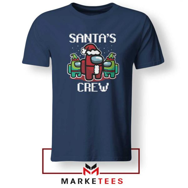 Santa Crewmate Navy Blue Tshirt