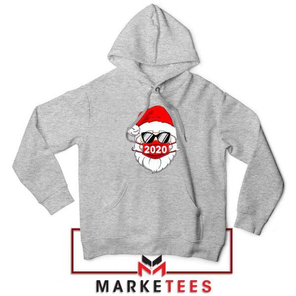 Santa Face Mask Sport Grey Hoodie