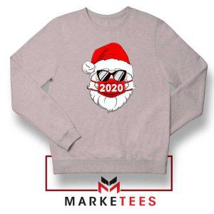Santa Face Mask Sport Grey Sweatshirt