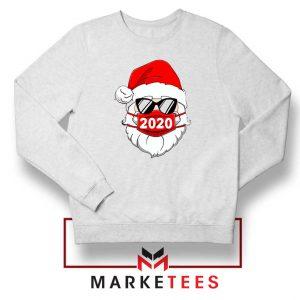 Santa Face Mask White Sweatshirt
