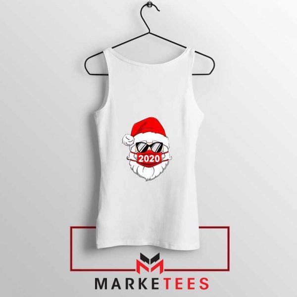 Santa Face Mask White Tank Top