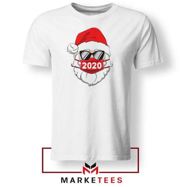 Santa Face Mask White Tshirt