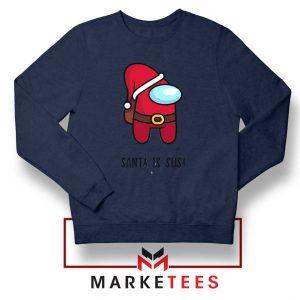Santa Is Sus Game Navy Blue Sweatshirt