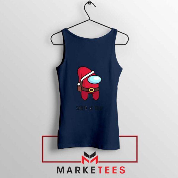 Santa Is Sus Game Navy Blue Tank Top