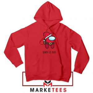 Santa Is Sus Game Red Hoodie