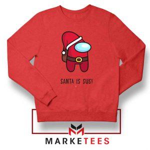 Santa Is Sus Game Red Sweatshirt