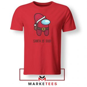 Santa Is Sus Game Red Tshirt