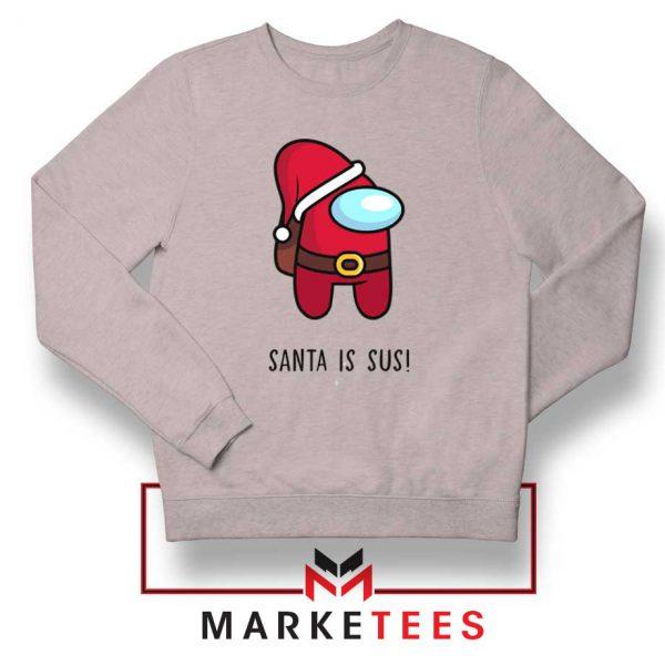 Santa Is Sus Game Sport Grey Sweatshirt