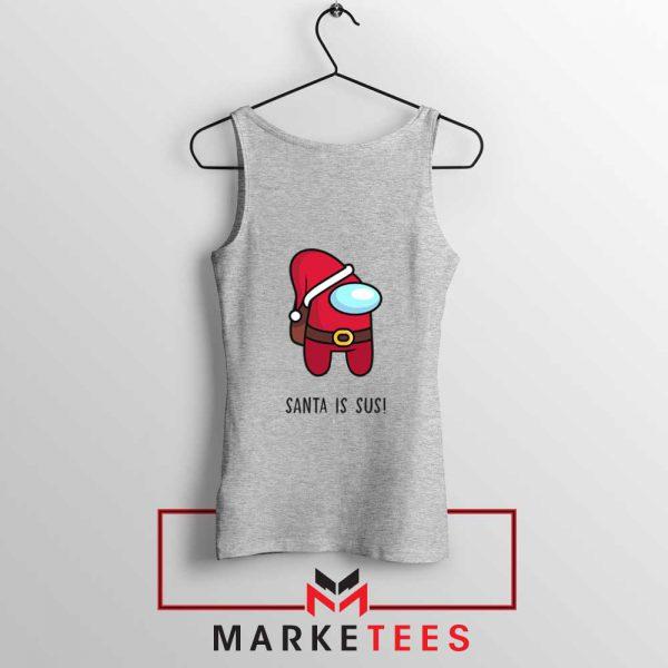 Santa Is Sus Game Sport Grey Tank Top